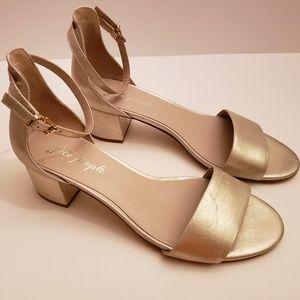 Free People Marigold Ankle Block Heels Size 9